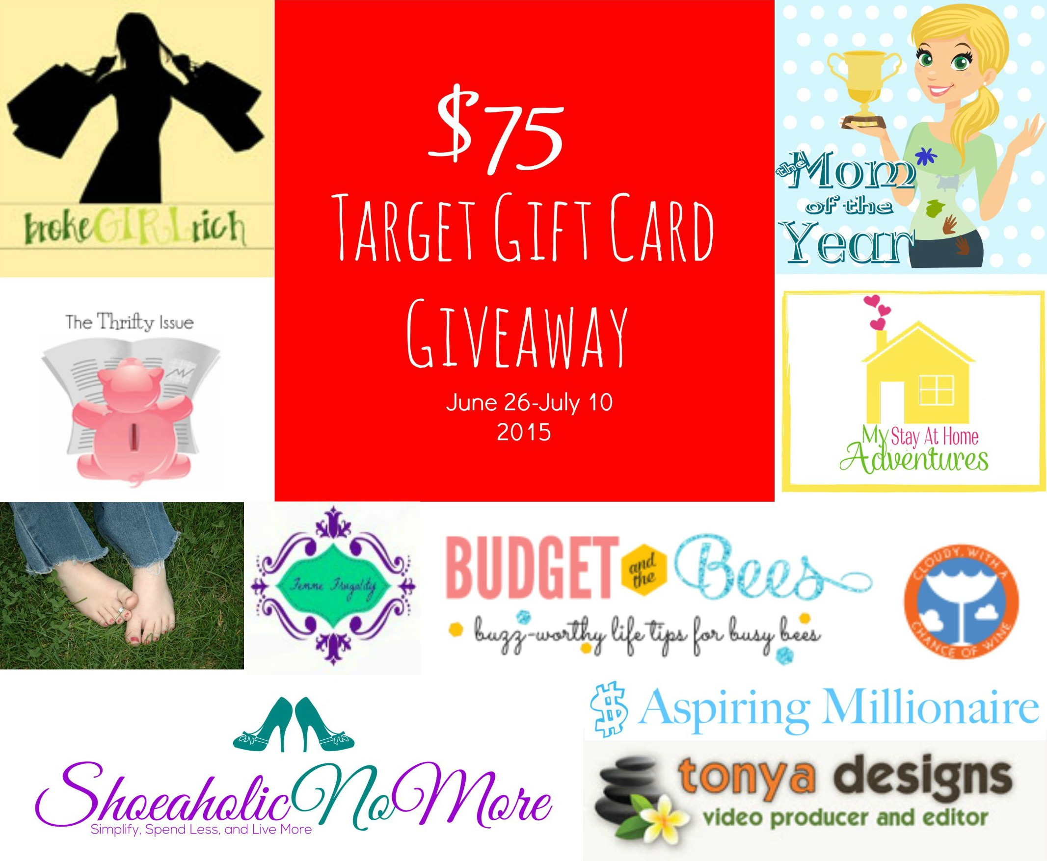 $75 Target Giveaway (blog birthday celebration)