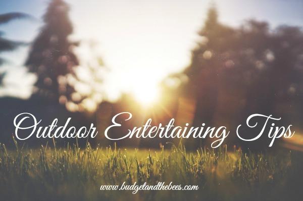 Tips for outdoor entertaining #sponsored