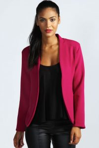 Amerie Collarless Tailored Blazer from Boohoo via Fashion Lane