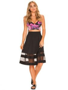 Luvalot Round We Go Midi Skirt from City Beach via Fashion Lane